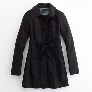 J. Crew Black Gamine Coat